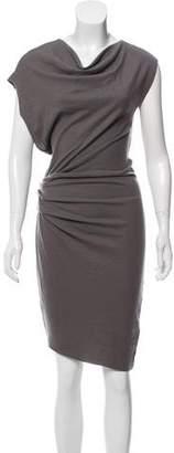 Helmut Lang Ruched Wool Dress