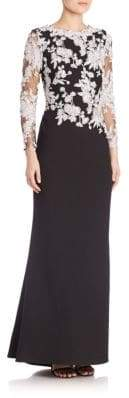 Tadashi Shoji Fit-&-Flare Lace Gown