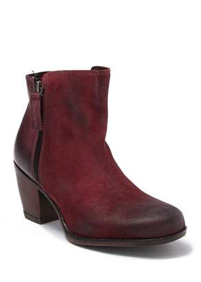 Bed Stu Roan by Lina Distressed Leather Block Heel Bootie
