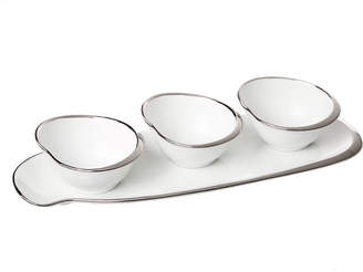 Classic Touch Candy/Condiment Bowls w/ Tray, Set of 3