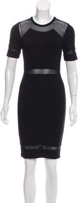 Torn By Ronny Kobo Mesh-Trimmed Bodycon Dress