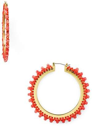 Kate Spade Braided Thread Hoop Earrings
