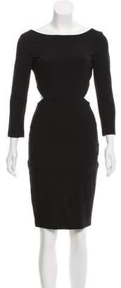 Halston Open Back Long Sleeve Dress w/ Tags
