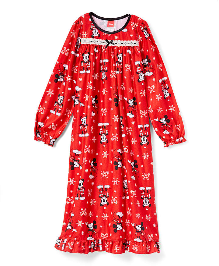 Red Mickey Mouse Christmas Nightgown - Girls