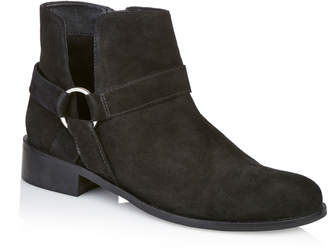 Long Tall Sally LTS Cora O-Ring Suede Ankle Boots
