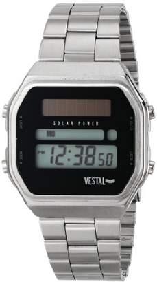 Vestal Men's 'Syncratic Solar Power' Quartz Stainless Steel Casual Watch