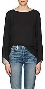 Ramy Brook Women's Violet Silk Georgette Blouse-Black Size Xxs