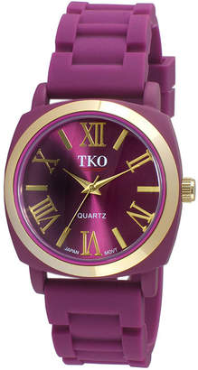 JCPenney TKO ORLOGI Milano III Womens Purple Silicone Strap Watch