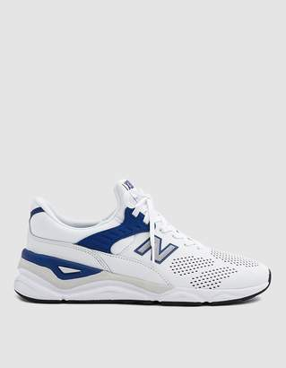 New Balance X90 Sneaker in White/Navy