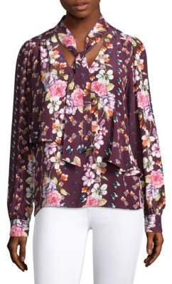 Parker Kinsley Floral Silk Blouse