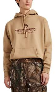 "Wu Wear Men's ""Protect Your Neck"" Cotton-Blend Hoodie - Sand"