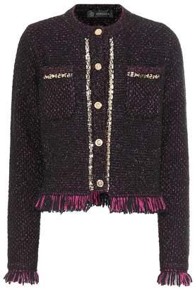 Versace Metallic tweed jacket