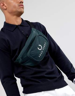 Fred Perry 90s logo fanny pack in dark green