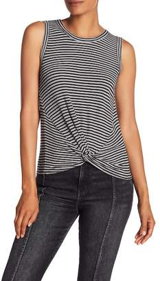 Lucky Brand Twist Front Ribbed Tank Top