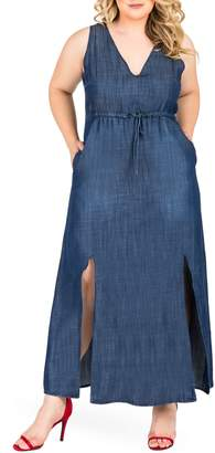 Standards & Practices Amber Maxi Chambray Dress