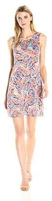 MSK Women's Sleeveless Laceup Shift Dress