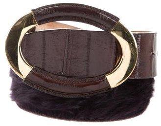 Dolce & GabbanaDolce & Gabbana Shearling & Eelskin Belt