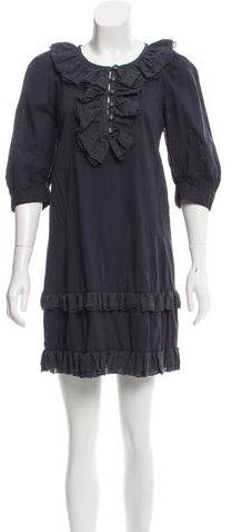 Marc by Marc Jacobs Ruffled-Accented Polka Dot Dress w/ Tags