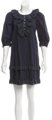 Marc by Marc Jacobs Ruffled-Accented Polka Dot Dress w/ Tags $125 thestylecure.com