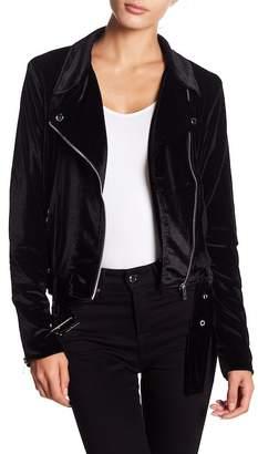 MinkPink Velvet Biker Jacket