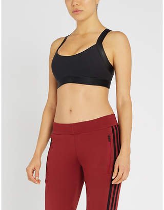 adidas All Me Warrior moulded stretch-jersey sports bra