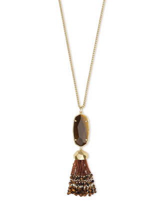 Kendra Scott Eva Long Pendant Necklace in Gold