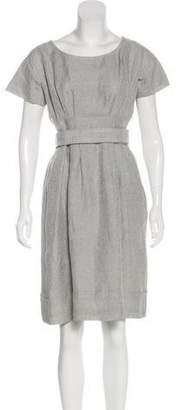 Philosophy di Alberta Ferretti Metallic Linen-Blend Dress