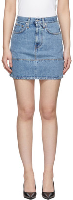 Helmut Lang Indigo Femme Utility Miniskirt