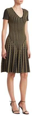 Roberto Cavalli Textured Knit Fit-&-Flare Dress