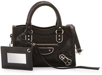 Balenciaga Classic Metallic Edge Nano City AJ Crossbody Bag