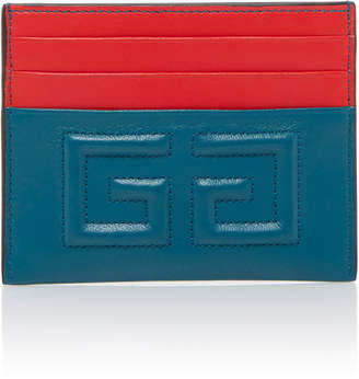 Givenchy Embossed Logo Leather Card Holder