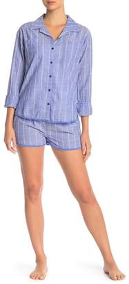 PJ Salvage Feelin' Blue Stripe Pajama Shorts
