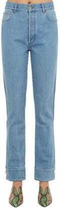 Marques Almeida Marques'almeida Cuffed Cotton Denim Jeans