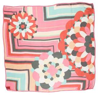Missoni Silk Printed Scarf Pink Silk Printed Scarf