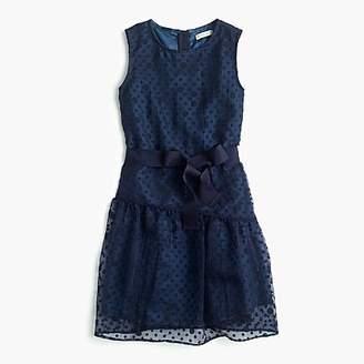 J.Crew Girls' sheer polka-dot ruffle dress