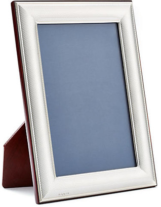 One Kings Lane Sterling-Silver Mesh Frame - 8x10