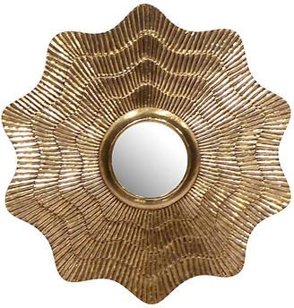 "Selamat Sydney 36"" Mod Aubrey Clad Mirror - Gold"
