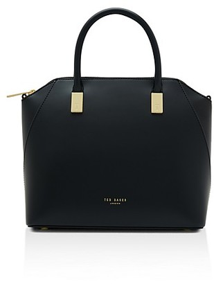 Ted Baker Abbeyy Small Leather Satchel $279 thestylecure.com