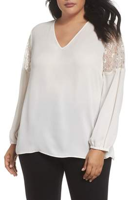 Sejour Lace Inset Sleeve Top
