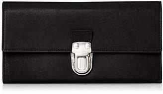 [パトリック ステファン] 財布 長財布 cartable 差し込み金具 羊革 161AWA09 S.BLACK ブラックxシルバーメタル