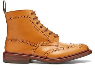 Tricker's - Stow Leather Brogue Boots - Mens - Tan