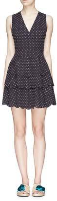 Marysia Swim 'San Onofre' polka dot cross back dress