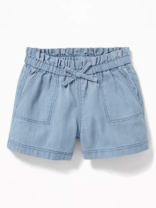 278227180 Old Navy Pull-On Chambray Shorts for Baby
