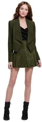 Alice + Olivia Harvey Open Front Suede Jacket
