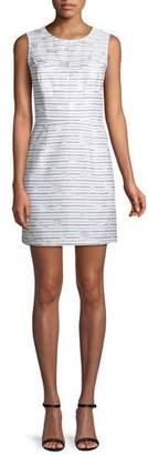 Milly Nina Striped Sleeveless Sheath Dress