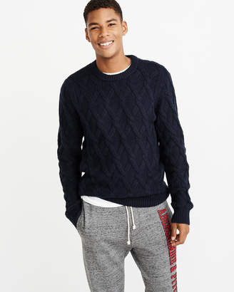 Abercrombie & Fitch Cozy Cable Knit Sweater