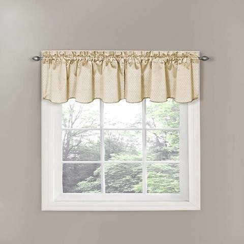 Thermaback Canova Blackout Window Valance - Ivory (42
