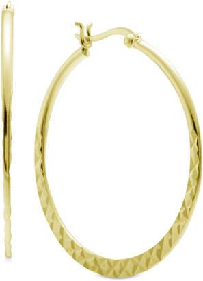 Essentials Textured Medium Hoop Earrings in Gold-Plate