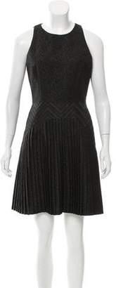 Cushnie et Ochs Pleated Jacquard Dress