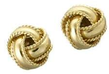 Lord & Taylor 18 Kt Gold Plated Knot Stud Earrings